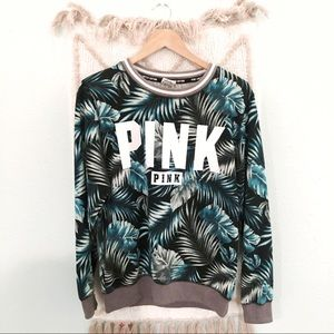 VS PINK • Limited Edition Palm Leaf Sweatershirt